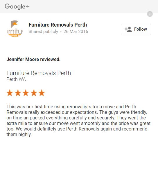 Furniture Removals Review